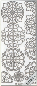 Stickers Ornamente - silver