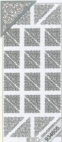 Stickers 1021 - Ecken - silber