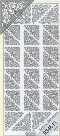 Stickers Ecken - schwarz