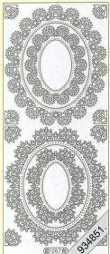 Stickers - Ornamente silber
