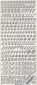 Stickers 0825 - Buchstaben schräg - silber