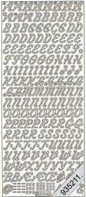 Stickers Buchstaben schräg groß - silber