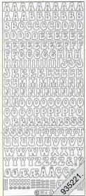 Stickers 0814 - Buchstaben A,B,C - silber