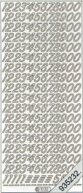Stickers Zahlen - weiß