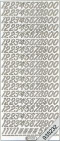 Stickers Zahlen - hellblau