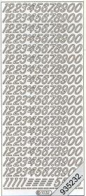 Stickers 1032 - Ziffern groß - silber