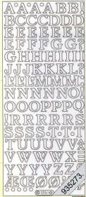 Stickers Buchstaben - gold