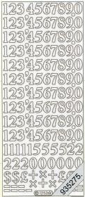 Stickers Zahlen - gold