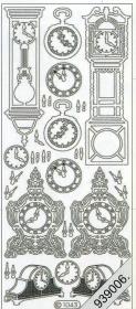 Stickers Uhren silber - silber