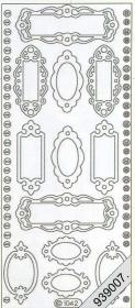 Stickers 1042 - Namensschild - gold