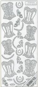 Stickers Korsett weiß - weiß