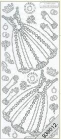 Stickers Kleid-2- weiß - weiß