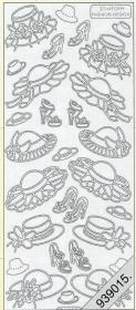Stickers Hüte silber - silber