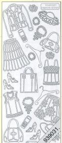 Stickers Damen-Kleidung gold - gold