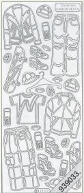 Stickers 1107 - Wintersportkleidung - silber