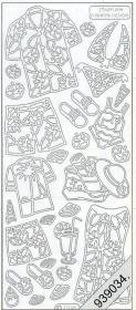 Stickers Sommerkleidung silber - silber