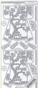 Stickers 1088 - Kimono`s hinten - gold - schwarz