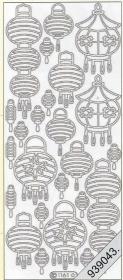 Stickers Chinesische Lampion gold - gold