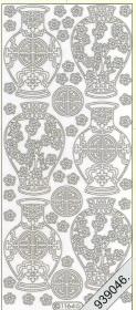 Stickers Chinesische Vase golg - gold