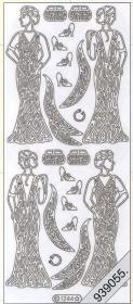 Stickers Kleid,Vintage silber - silber