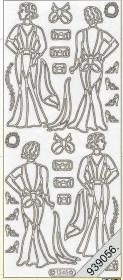 Stickers Kleid,Vintage gold - gold