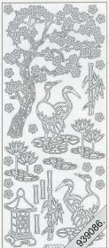 Stickers Motive / Figuren - silber