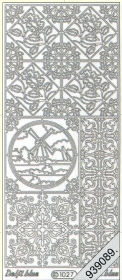 Stickers 1027 - Ziegel Mühle - silber