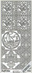 Stickers 1028 - Ziegel Segelboot - silber