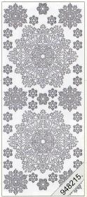 Stickers Eiskristal weiß - white