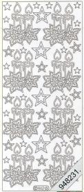 Stickers 0862 - Weihnachtskerze - gold