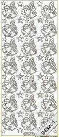 Stickers Weihnachtsglocken weiß - weiß