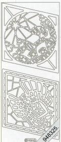 Stickers Fenster+Engel+Kirche gold - gold