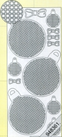 Stickers Mosaik -Weihnachtskugel weiß - white