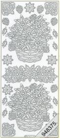Stickers Figuren / Motive - Weihnachten - silber