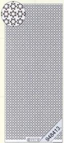 Stickers Weihnachtsrand Sterne silber - silber