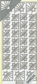 Stickers Ecken - silver