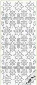 Stickers Weihnachts-Ornamente silber - silber