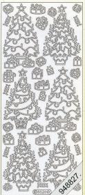Stickers Weihnachtsbaum gold - gold