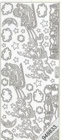 Stickers Figuren / Motive - Weihnachten - gold