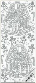 Stickers Lebkuchenhaus silber - silber