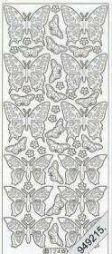 Stickers Flitter/Tr.Schmetterlinge gold - gold