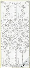 Stickers Flitter/Tr.Hemd+Krawatte gold - gold