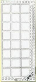 Stickers Glitzer-Stickers, transparent - silber
