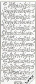 Stickers Glitzer-Stickers, transparent - gold