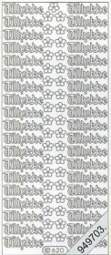 Stickers Glitzer-Stickers, transparent - silber