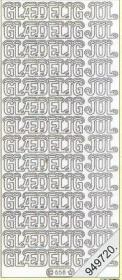 Stickers Glaedelig jul - silber