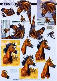 Hojas de 3D Pferde - Formato A4