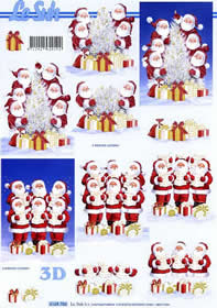 3D Bogen Weihnachtsmännchen - Format A4