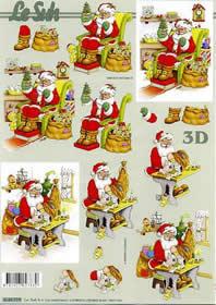 Carta per 3D Weihnachtsmann - Formato A4
