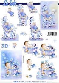 3D Bogen Babys baden - Format A4